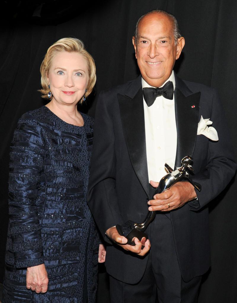 Оскар де ла Рента с Хиллари Клинтон, CFDA Fashion Awards 2013