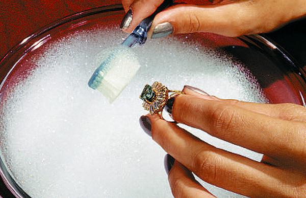 Как снять позолоту с серебра в домашних условиях видео