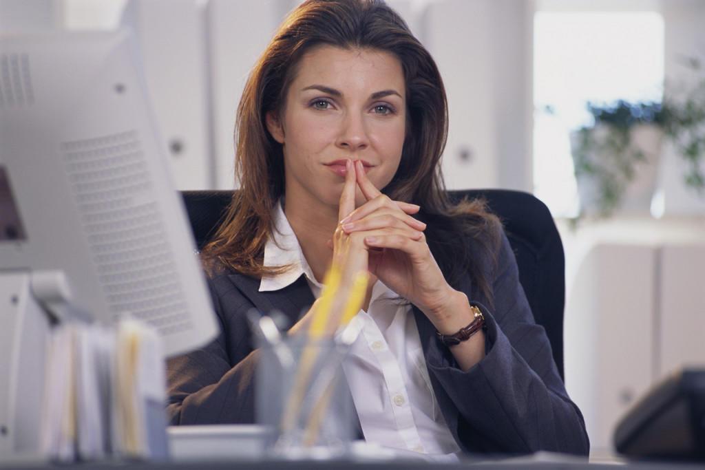 Contented Businesswoman