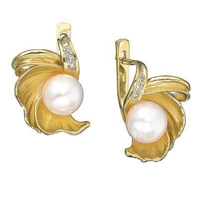 Серьги из желтого золота Aldzena, 41900 руб.