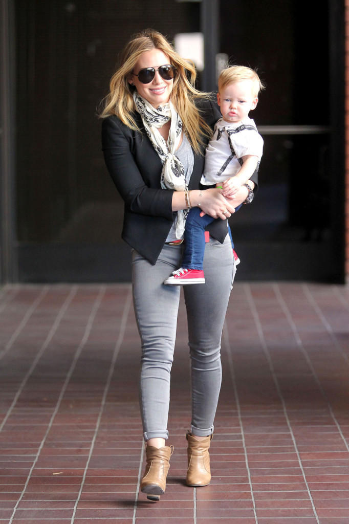 Hilary Duff and Luca go to Class
