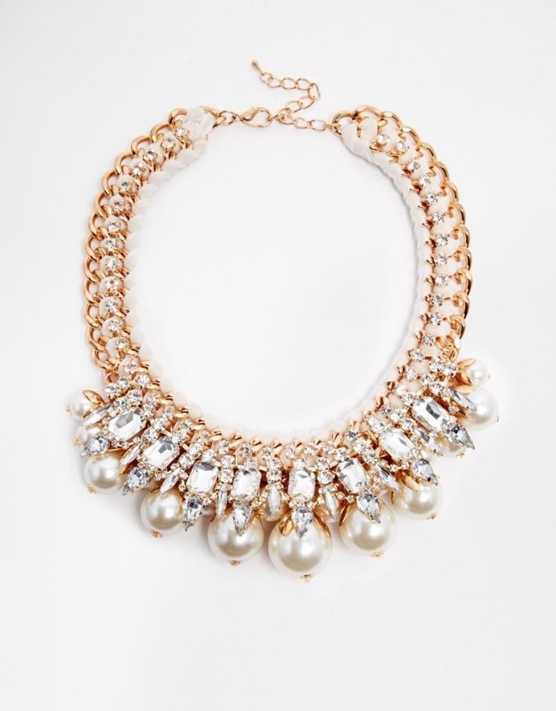 Ожерелье-воротник искусственным жемчугом Love Rocks, 4800 руб.