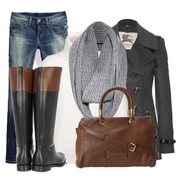 Серое пальто: с чем носить