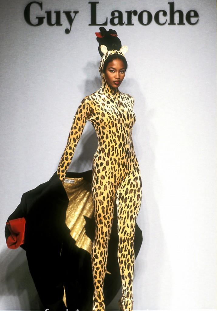 Naomi Campbell model photo by Guy Marineau