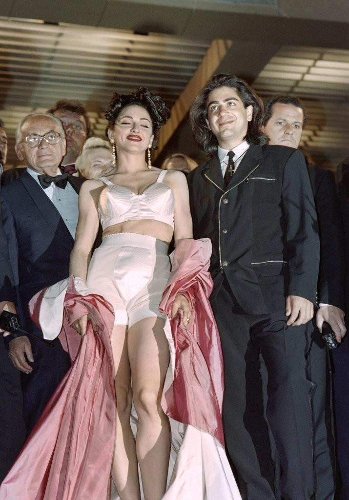 Madonna-wore-ensemble-designed-Jean-Paul-Gaultier-including