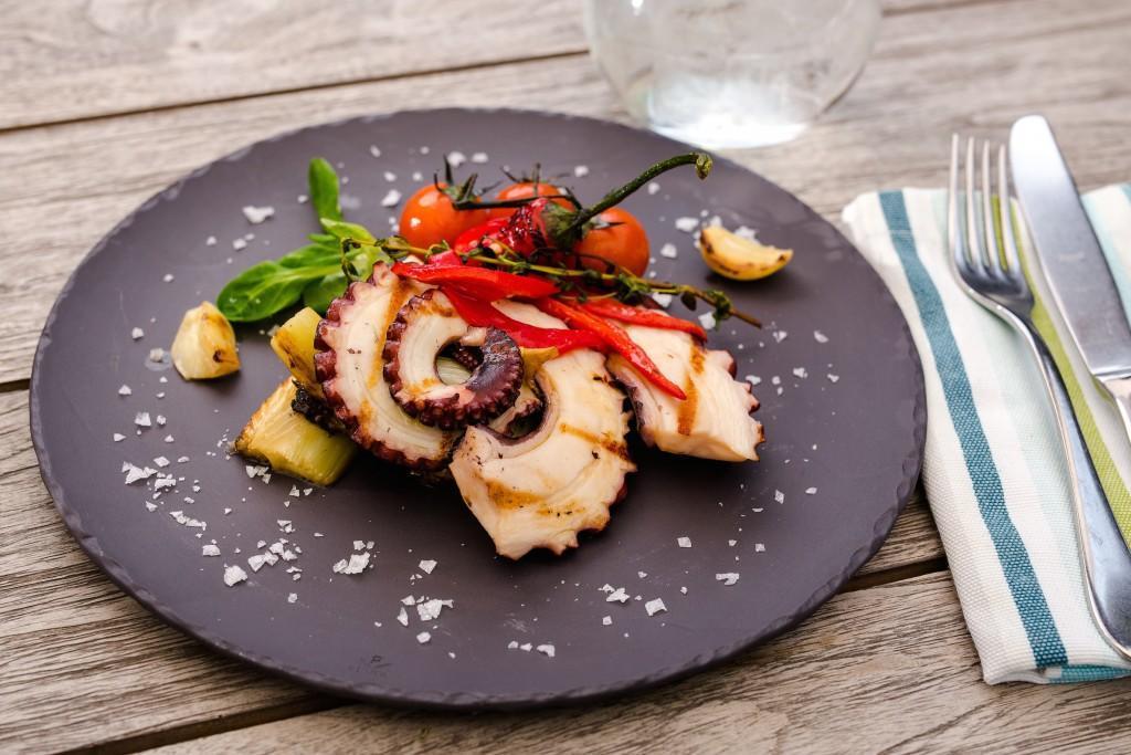 блюда с осьминогом с фото