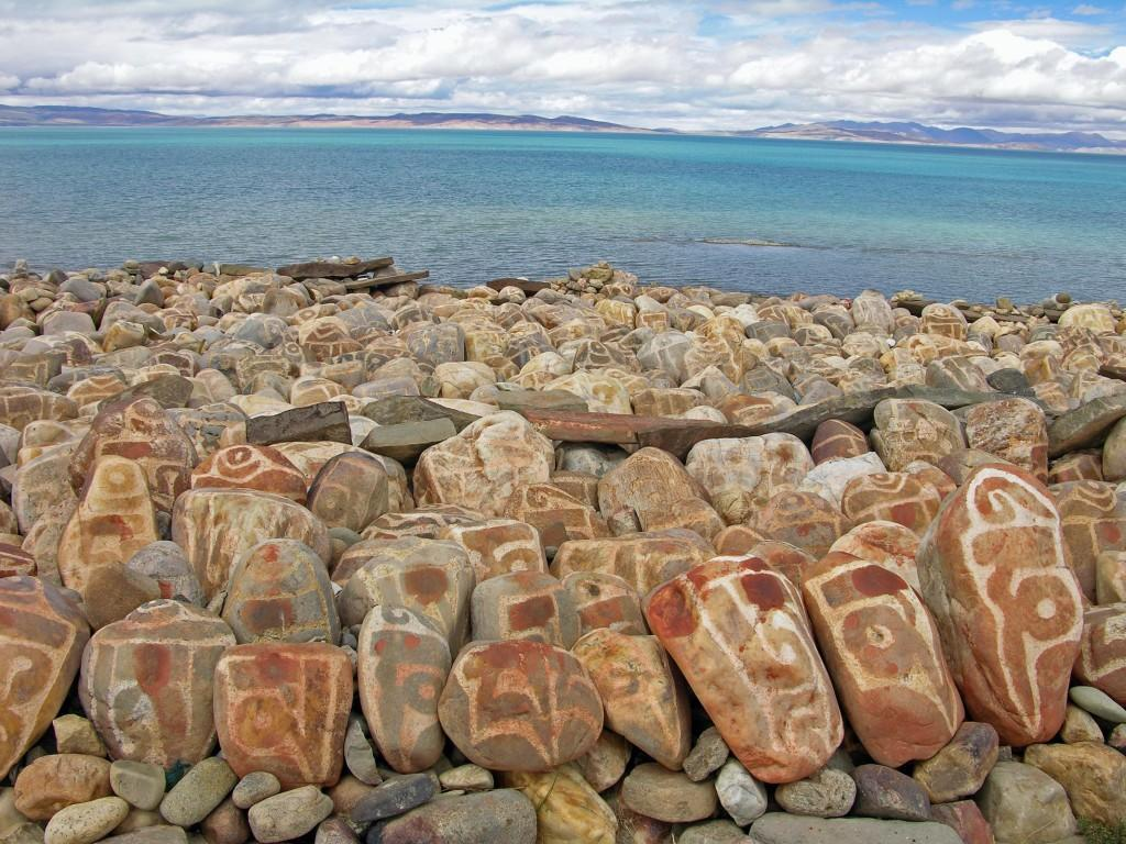 Tibet Kailash 07 Manasarovar 02 Seralung Mani Rocks