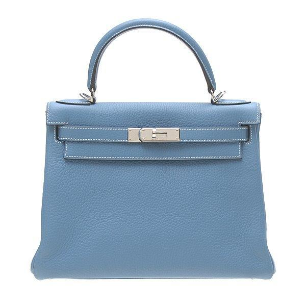 Hermes-Kelly-28cm-Clemence-Blue-Jean