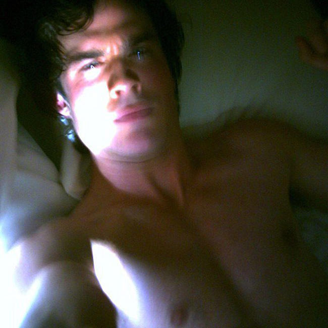 Ian-Somerhalder-posted-his-shirtless-selfie-while-set