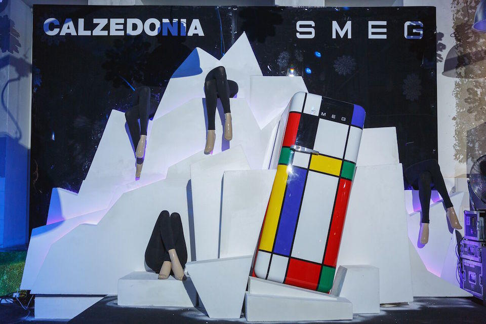 Холодильник FAB with Mondrian's Art