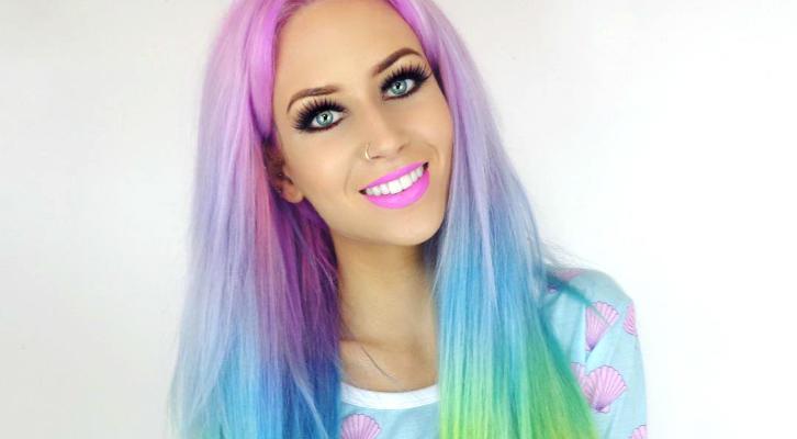 Радужные волосы фото из Instagram: модные окрашивания лето 2016 — rainbow hair, mermaid hair