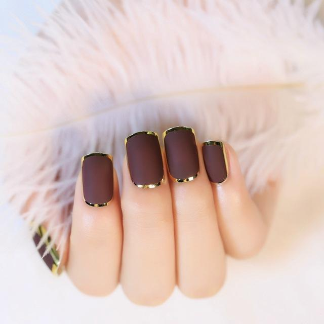 1-set-24pcs-Matte-Chocolate-Color-Fake-Nail-Tips-Noble-Gold-Line-Nail-Art-Design-Artificial.jpg_640x640