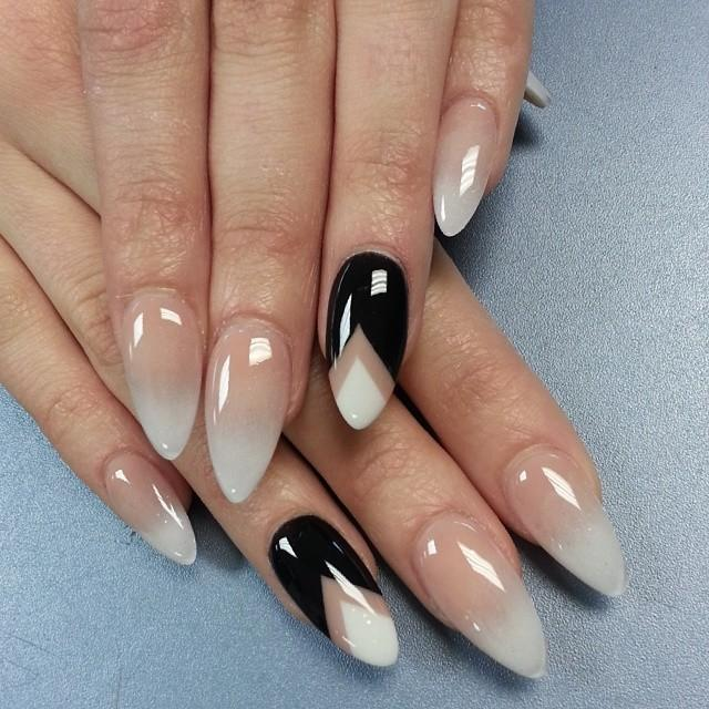 дизайн миндалевидных ногтей фото 2016