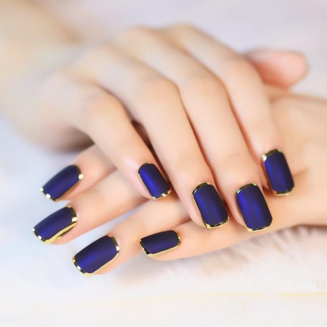 Nail-Art-Dark-blue-Elegant-Tips-Noble-Phnom-Matte-Fake-Nails-Gold-Line-Full-Cover-False.jpg_640x640
