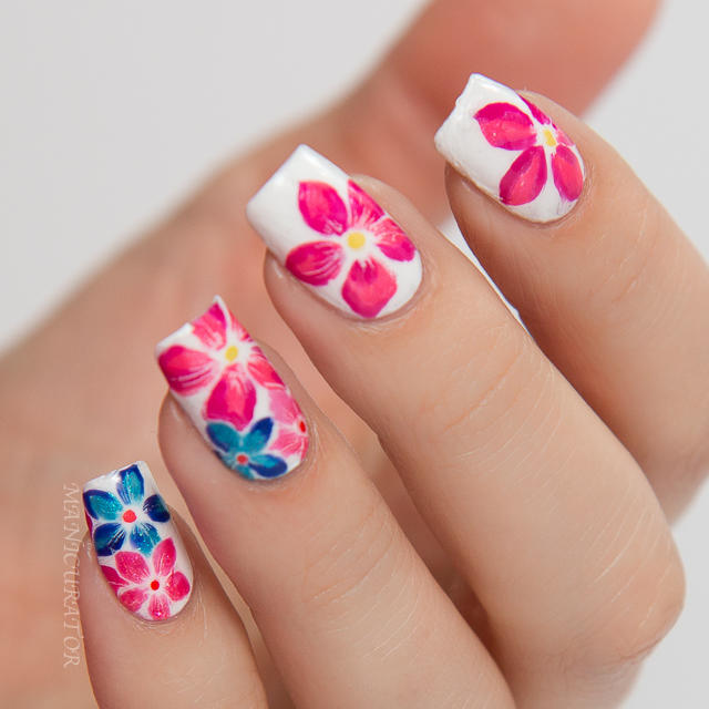OPI-Brights-Summer-2015-Flower-Nail-Art-On-Pinks-Needles003