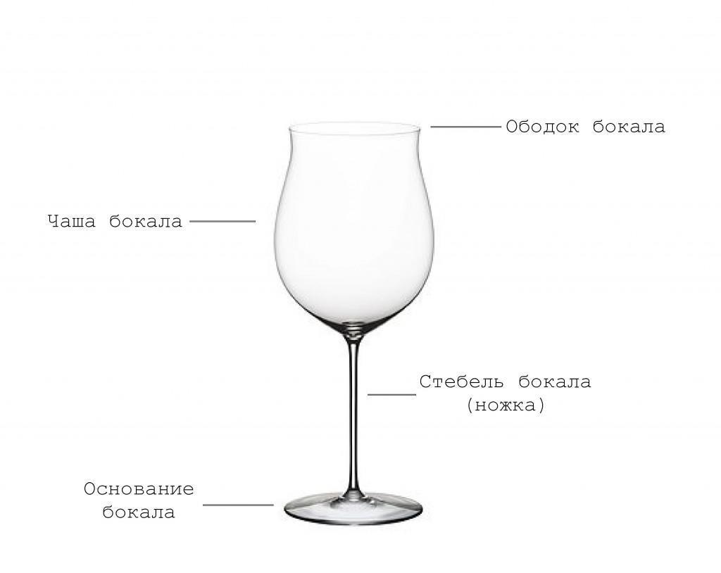 Описание частей бокала