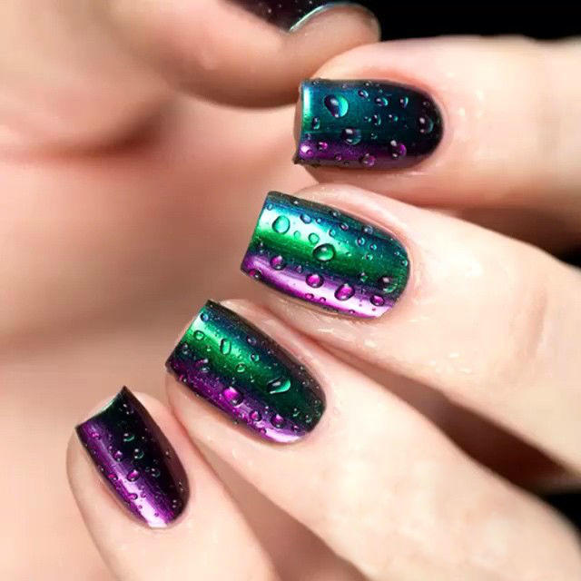 Raindrop-nails-by-@u_nona