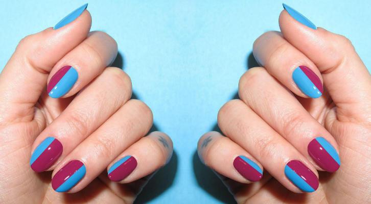 Голубой маникюр, дизайн ногтей голубого цвета с фото