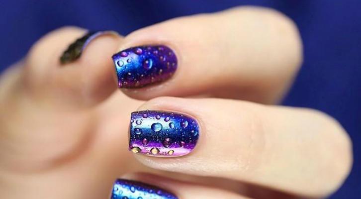 Маникюр с капельками воды – как сделать капельки на ногтях гель-лаком