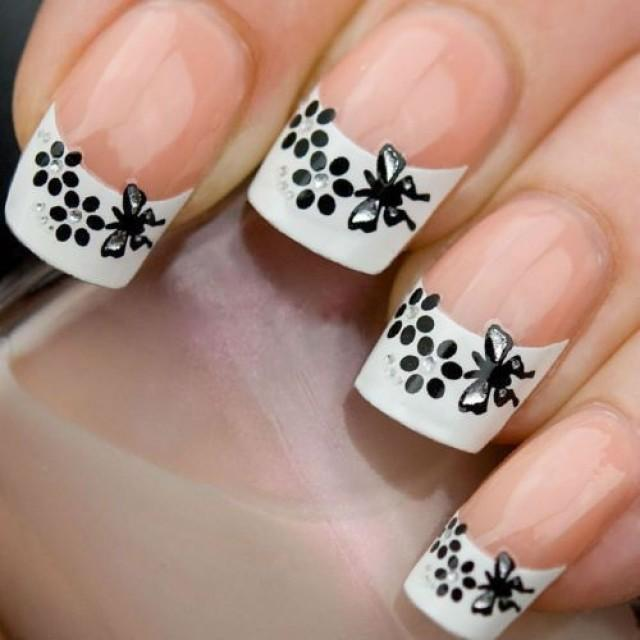 whiteblack-french-tip-rhinestone-nail-art-3d-decal-sticker-usa-seller-xf830