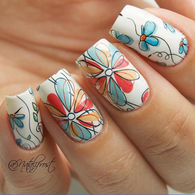 2-Patterns-font-b-Sheet-b-font-Cute-Flower-font-b-Nail-b-font-Art-Water