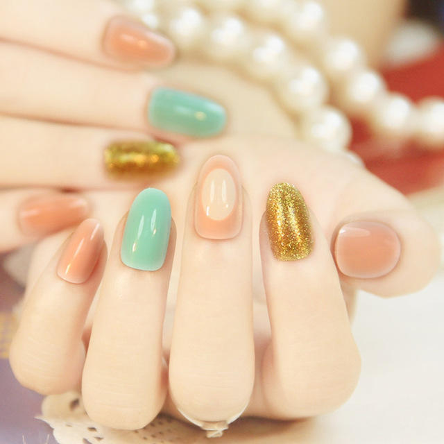 2016-Lovely-candy-colors-Fake-Nails-Mix-and-match-Gold-dust-Nail-Ttips-24-pcs-Simple.jpg_640x640