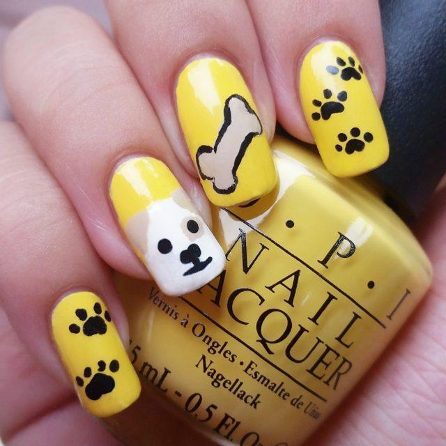 Dog-Paw-Nail-Art-Design