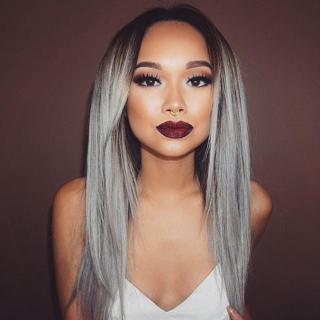 Grade-6A-1b-grey-Ombre-hair-1-Pcs-lot-Brazilian-Ombre-Hair-Top-Quality-Gey-ombre