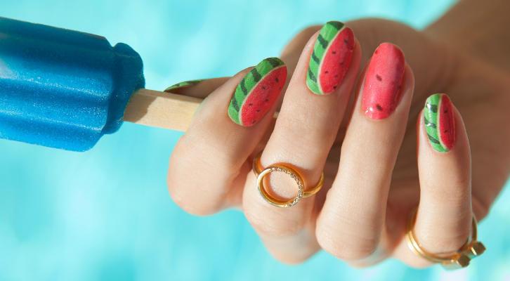 Дизайн ногтей с арбузом – как сделать маникюр с арбузом