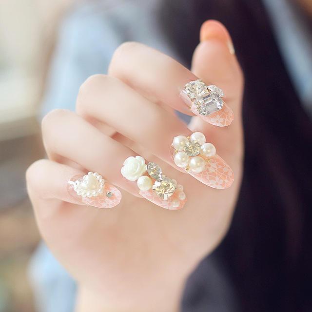 New-24-pieces-Sweet-Heart-Rose-Manicure-3D-Pearl-Glitters-Decoration-Long-Fake-false-Acrylic-Sticker.jpg_640x640