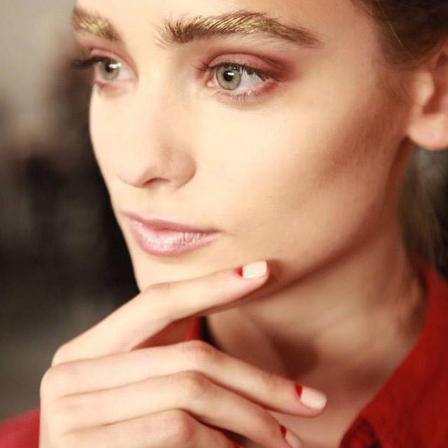 Nude-and-red-moon-nails-by-Zoya-at-Alexandre-Herchcovitch