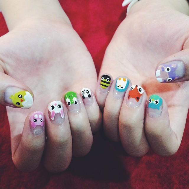 Rabbit-Animal-Nail-Design