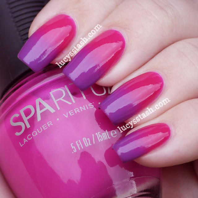 SpaRitual gradient manicure with Color Trip and Illume 3