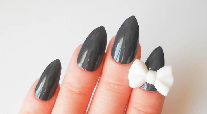 Маникюр с бантиками на ногтях – как нарисовать бантики на ногтях, инструкция с фото