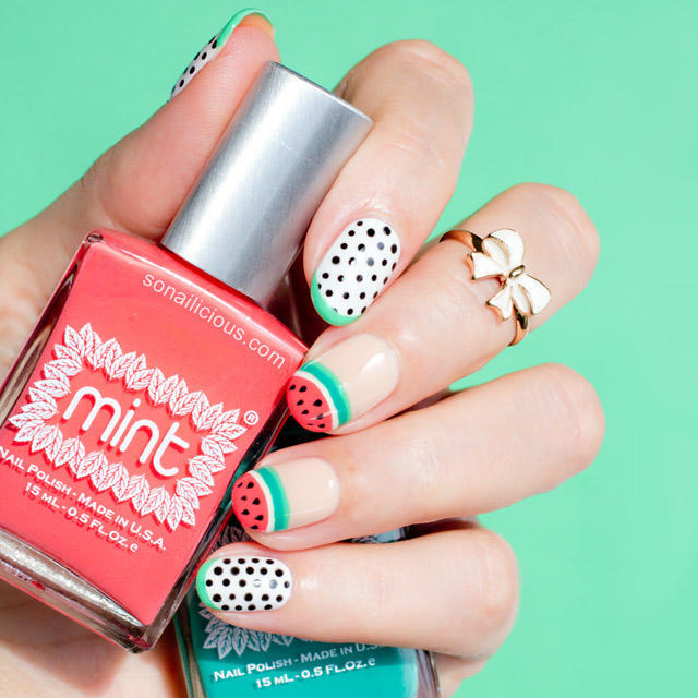 Watermelon-Nails-by-@SoNailicious-NAFW-2015