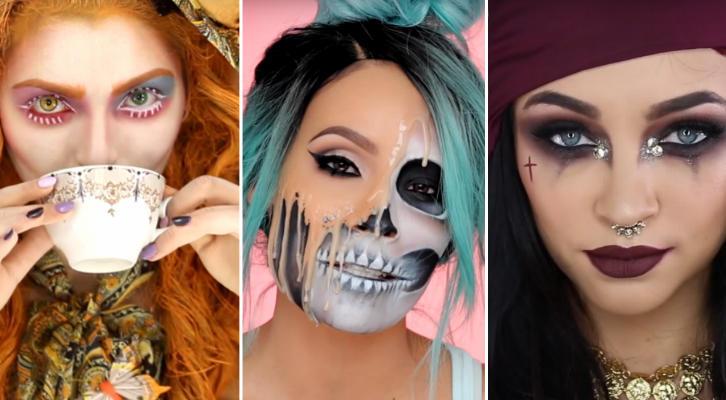 Макияж на Хэллоуин 2016: Харли Квинн, Чаровница, Вампир, Скелет, Черный Лебедь, Оборотень, Джокер и другие уроки на YouTube