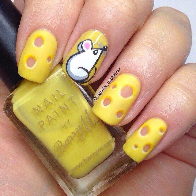 Сыр на ногтях рисунок