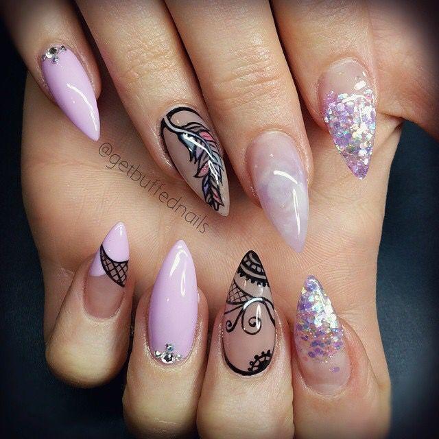 Сиреневые Ногти Дизайн 2019