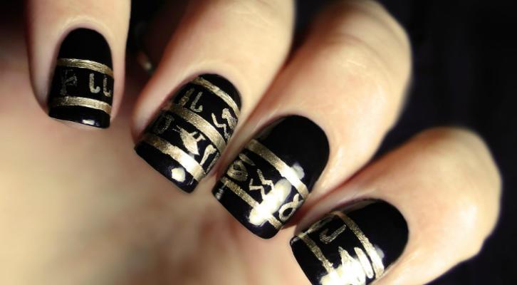 hieroglyph nail art -08495548-00