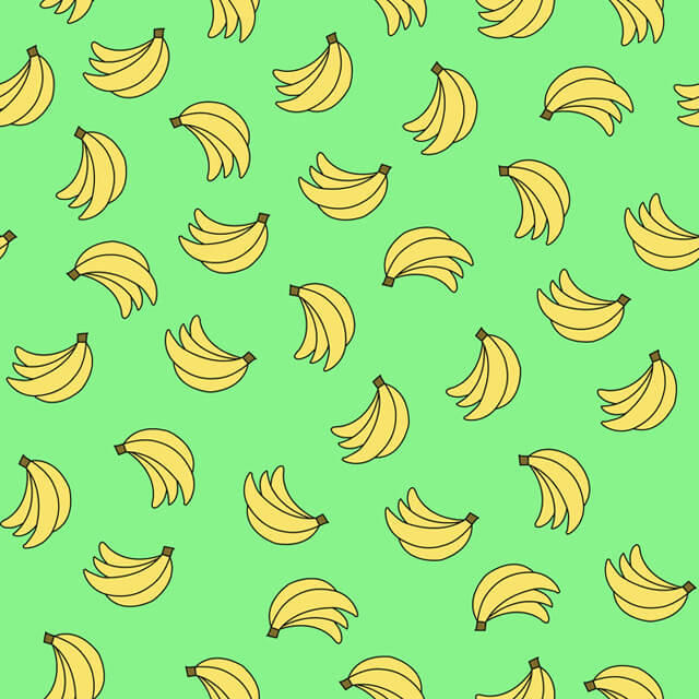 Illustration-of-bananas-on-green-background