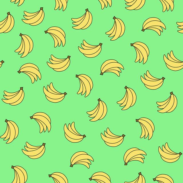 Illustration-of-bananas-on-green-background
