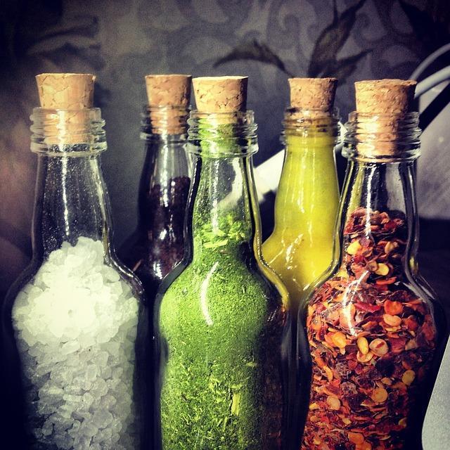 bottle-salt-coffee-mustard-erb-pepper-food