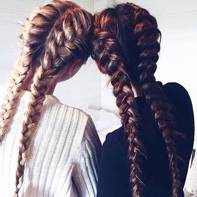 Боксерские косы — вариант для спортивных девушек.