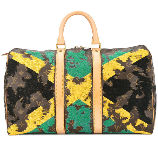 JAY AHR Jamaican flag vintage Louis Vuitton holdall - Available at Farfetch.com (21)