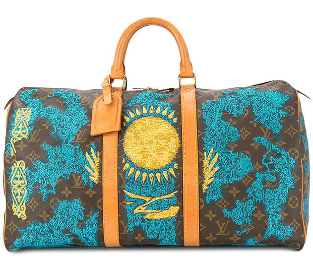 JAY AHR Kazakhstan flag vintage Louis Vuitton keepall - Available at Farfetch.com (36)
