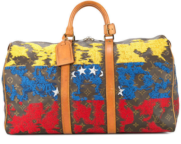 JAY AHR Venezuela flag vintage Louis Vuitton holdall - Available at Farfetch.com (23)