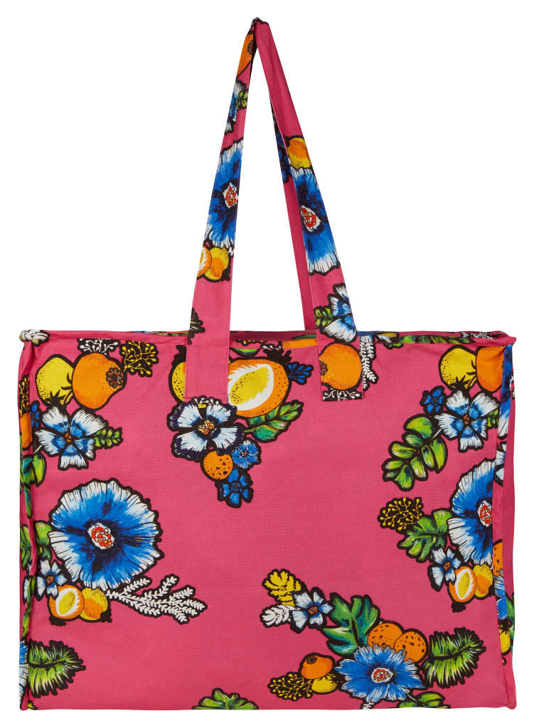 ASOS Made In Kenya Oversized Shopper In Tropical Print Floral - £25