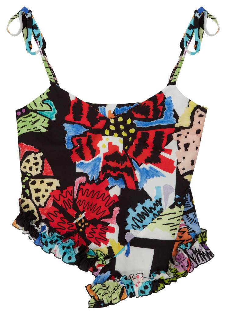 ASOS Made In Kenya Tie Strap Cami Top In Floral Block Print - £28