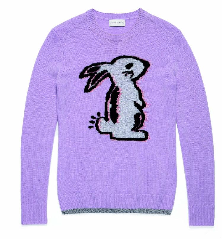 Coach x Selena Gomez_39276_Intarsia Sweater_Lilac