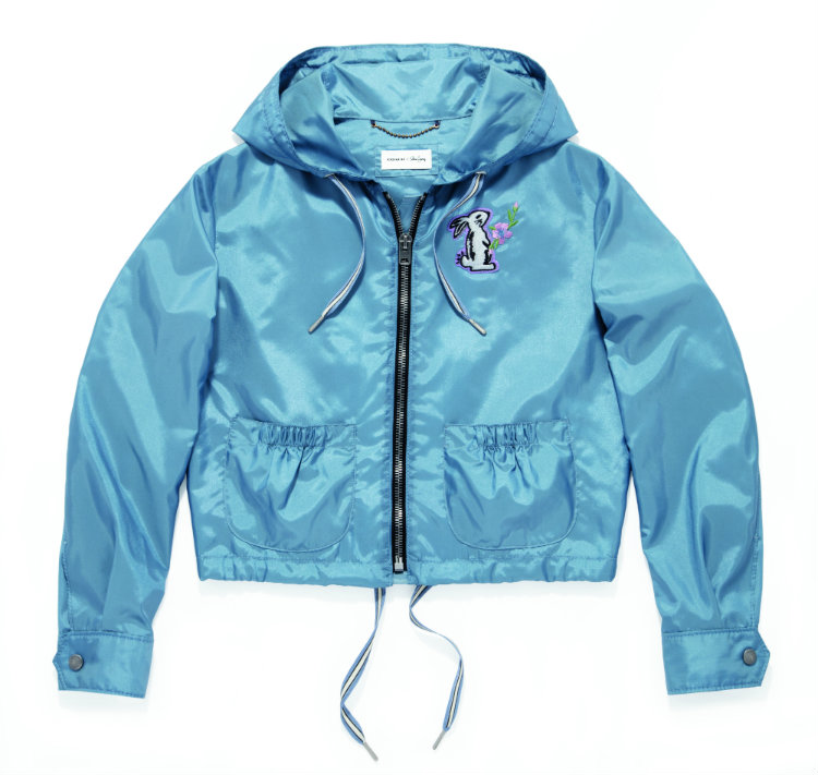 Coach x Selena Gomez_39283_Embellished Windbreaker_Dusty Blue